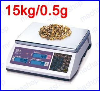 ตาชั่งดิจิตอล เครื่องชั่งนับจำนวน เครื่องชั่งตั้งโต๊ะ 15kg ละเอียด0.5g แท่นชั่ง306x222mm รุ่น EC ยี่ห้อ CAS(เกาหลี)